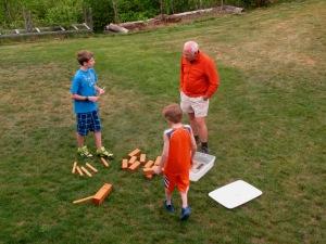 Doug playing with Eli and Mica