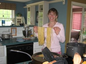 Denise is amazing. She even makes her own pasta!