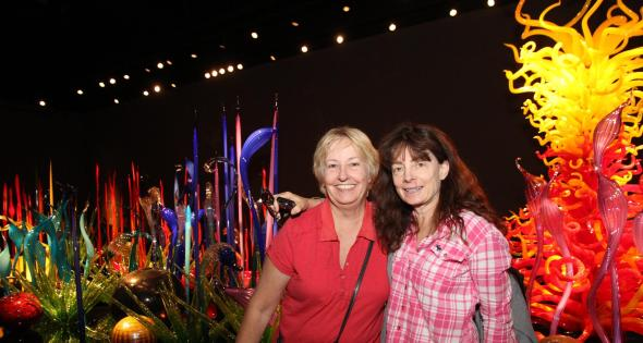 me and mare at chihuly